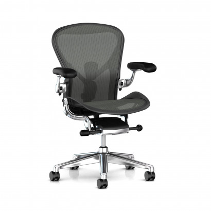 Herman Miller Aeron, Svart - Adjustable PostureFit support