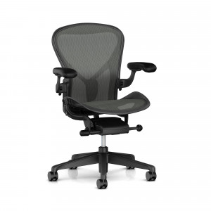 Herman Miller Aeron, Svart - Fixed PostureFit support