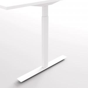 Höj och sänkbart skrivbord, silver stativ och svart skiva - Standard