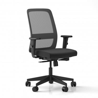 Cavaletti, ergonomisk kontorsstol - svart mesh