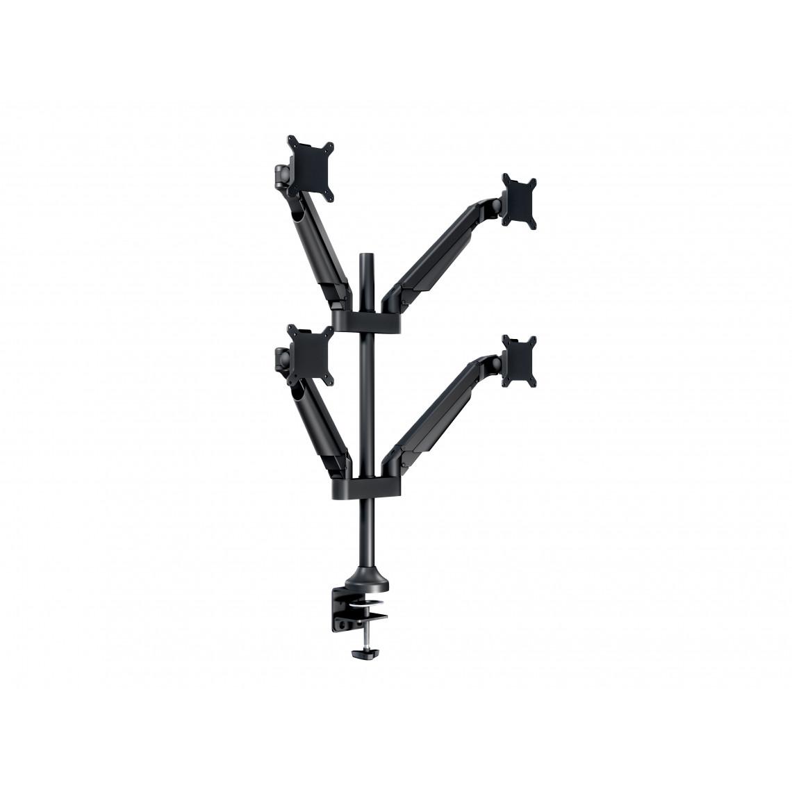 M VESA Gas Lift Arm Quad Black