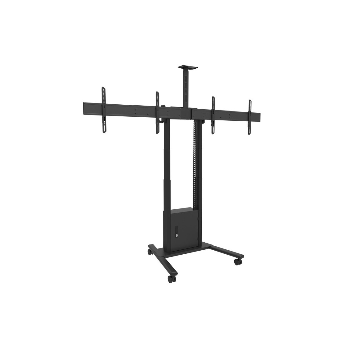 M Motorized Floorstand Dual Screen incl cabinet & cam-shelf 120kg