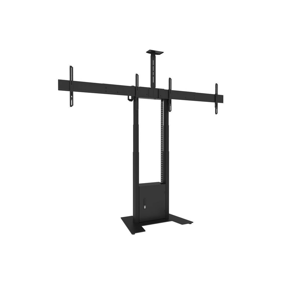 M Motorized Floorbase Dual Screen incl cabinet & cam-shelf 120kg