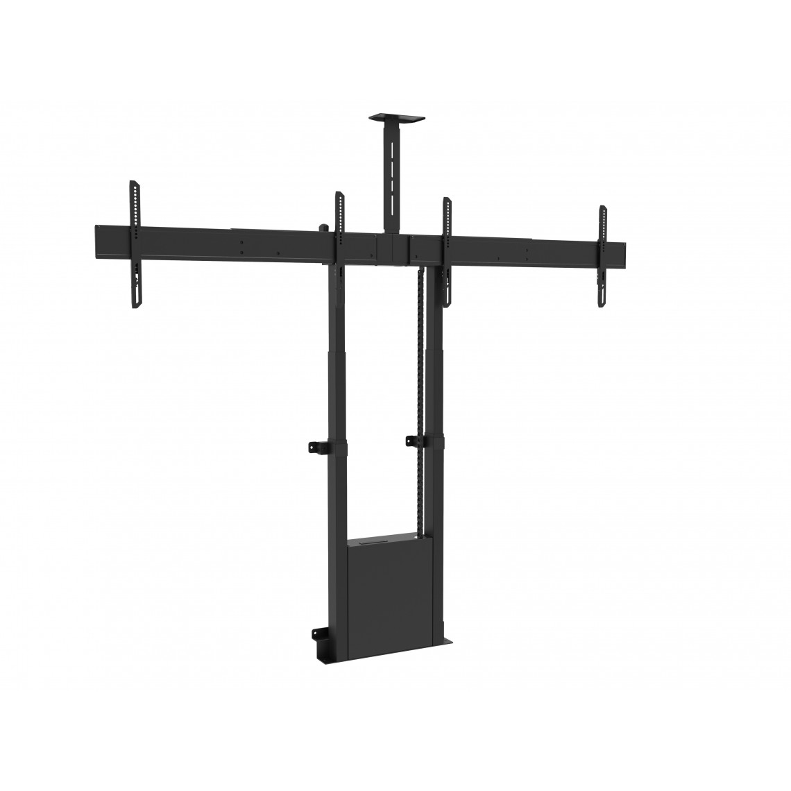 M Motorized Floormount Dual Screen incl cabinet & cam-shelf 120kg