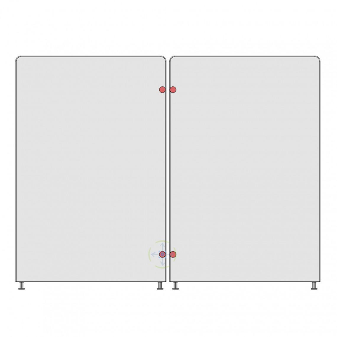 Kopplingsbeslag - till Calm golvskärm (för 2 skärmar)