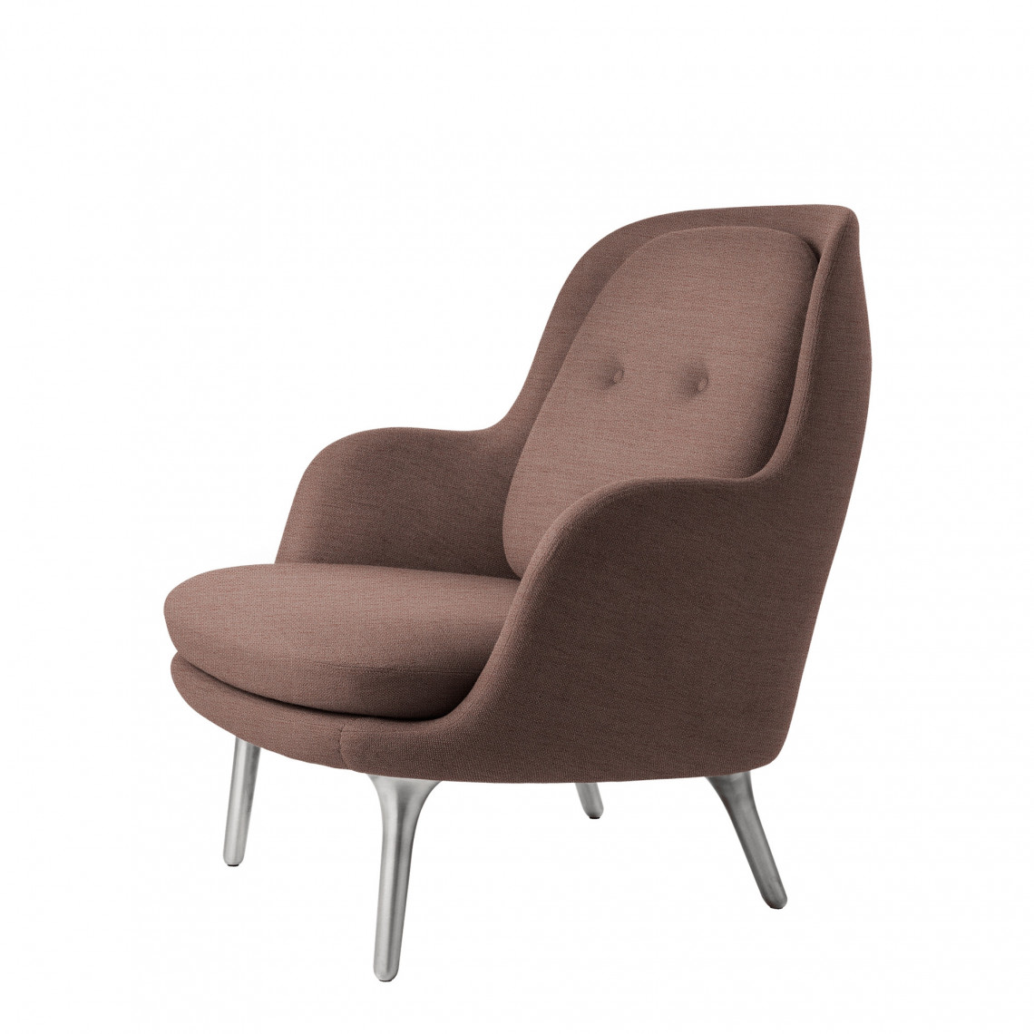 Lounge fåtölj FRI™ - Klädd i tyg Christianshavn med kromben