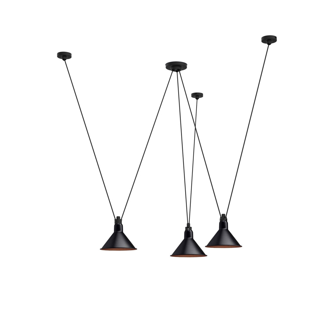 Les Acrobates de Gras No 325 - Conic L Black / Copper
