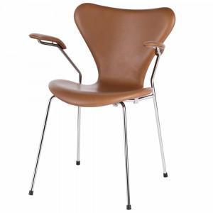 Sjuan karmstol, valnöt elegance leather (Serie 7)