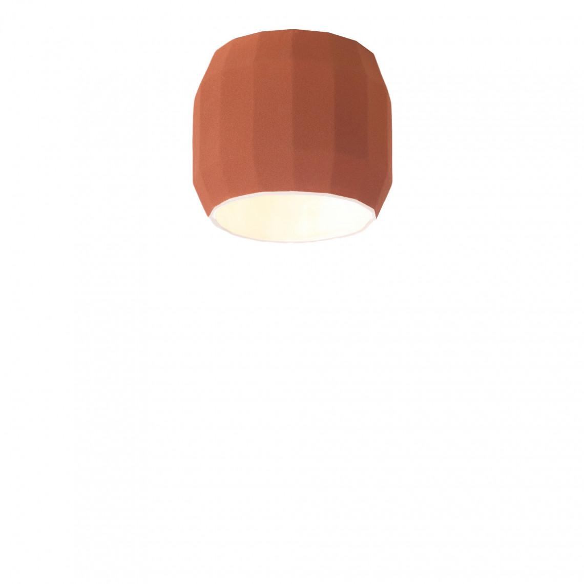 Scotch Club C - Ceiling Lamp Terracotta/White
