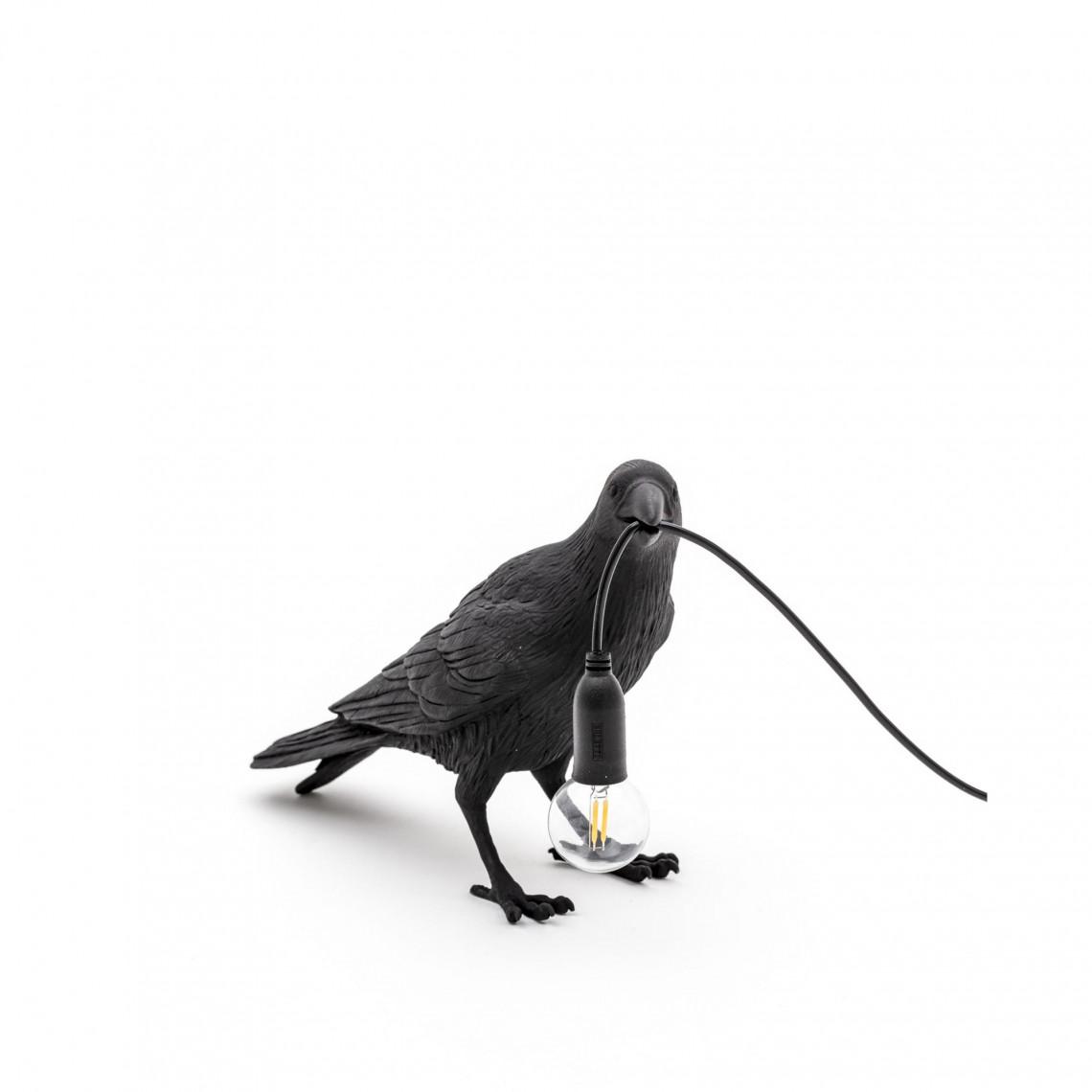 Bird Lamp Waiting - Svart