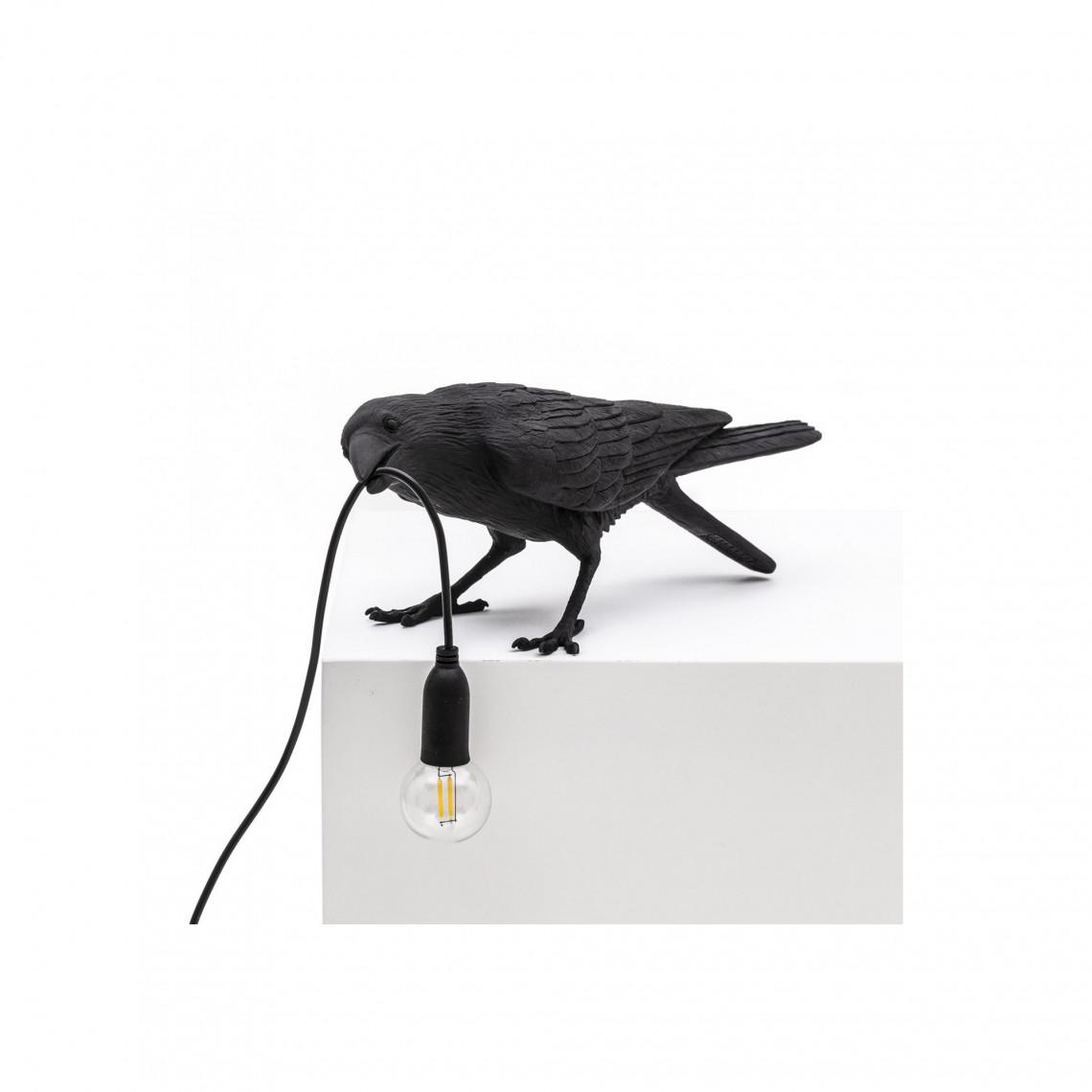 Bird Lamp Playing - Svart