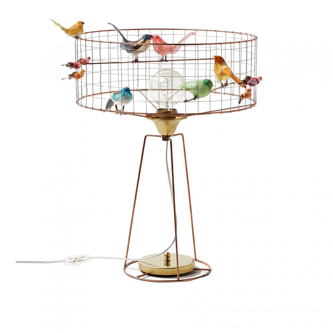 Fågellampa Lampe Volière Tambour