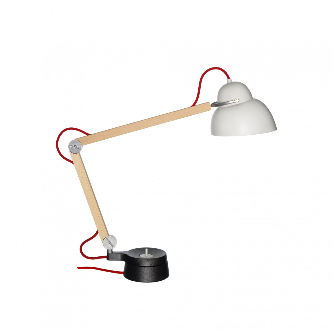 Studioilse w084 Lång Arm - Bordslampa Röd kabel