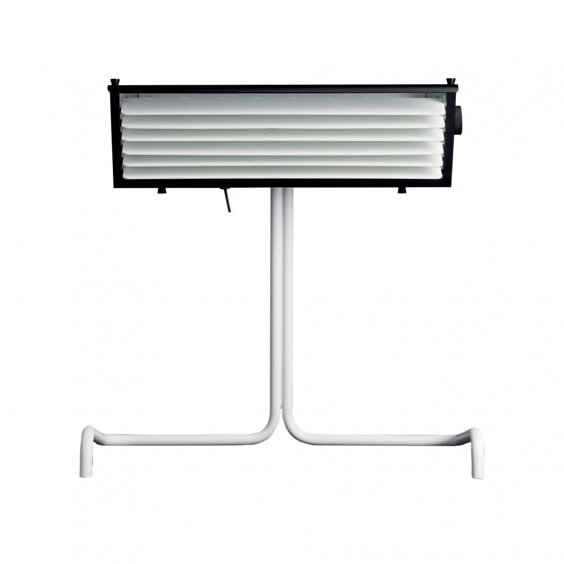 Biny Table Vit bas/Svart skärm/Vit reflektor