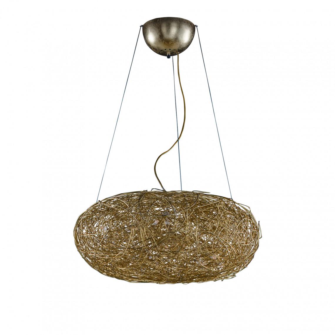 Fil de Fer Ovale - Pendellampa Guldfärgad aluminium