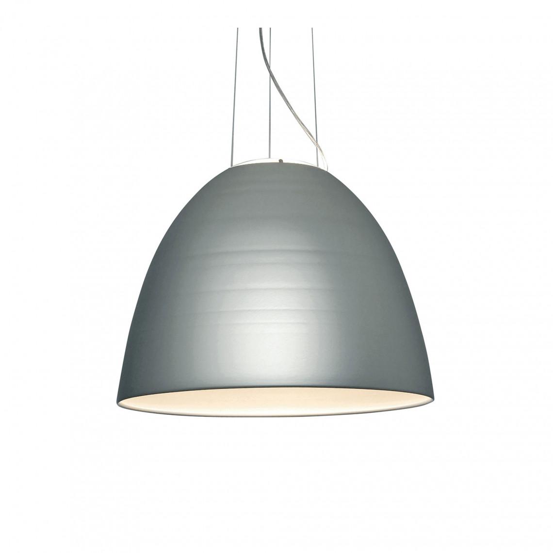 Nur 1618 Pendellampa Aluminiumgrå