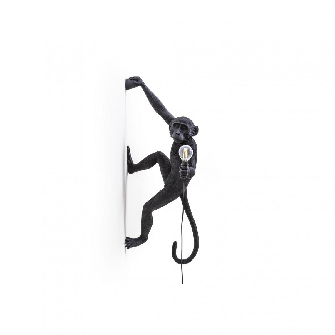 Monkey Lamp Outdoor Hanging Right Hand - Svart