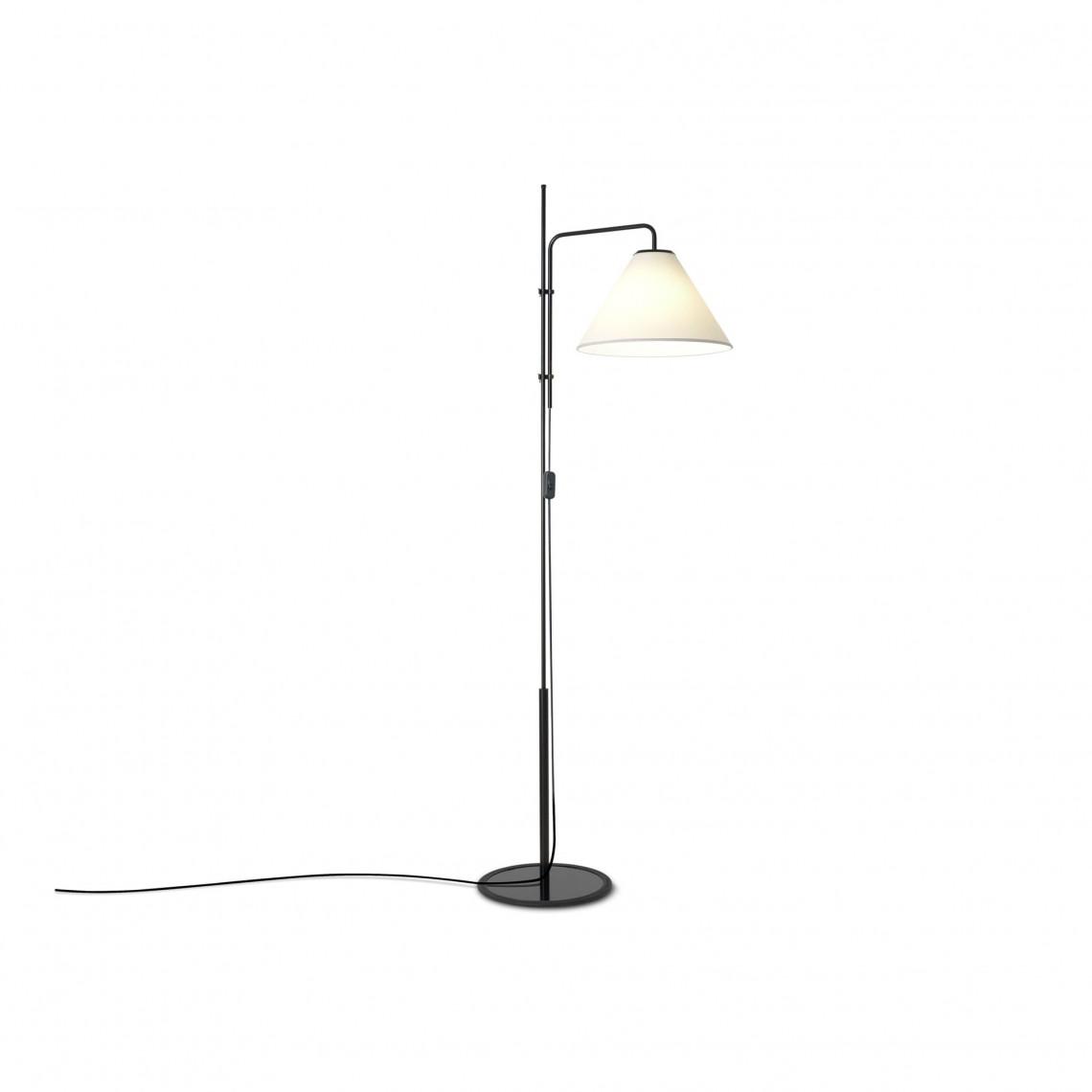 Funiculi Fabric - Floor Lamp Black/White