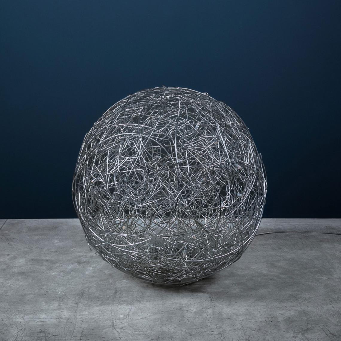 Fil de Fer - Golvlampa Naturlig aluminium