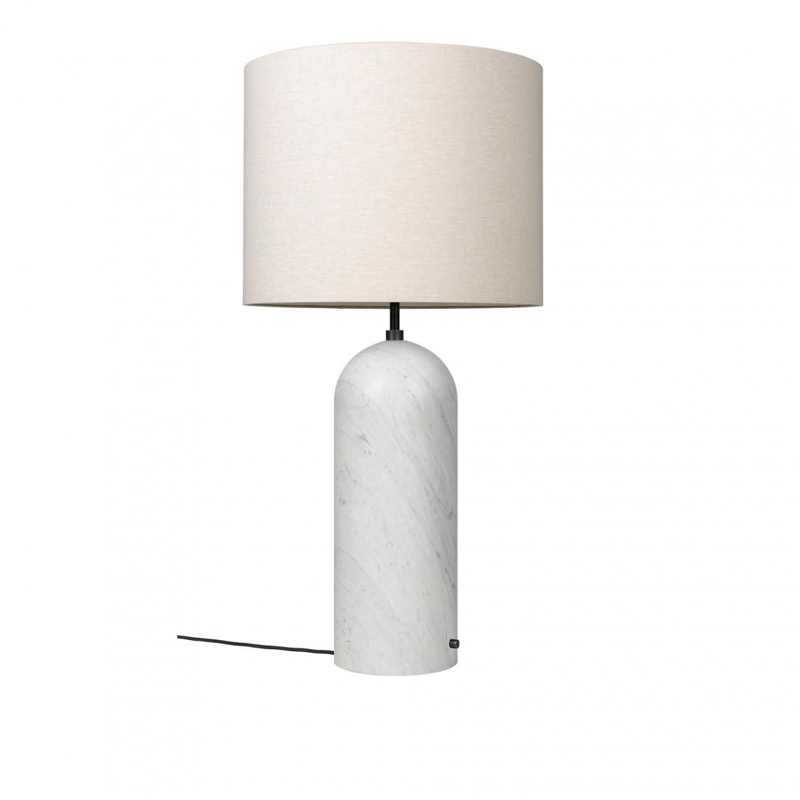 Gravity XL Low - Golvlampa Vit marmor