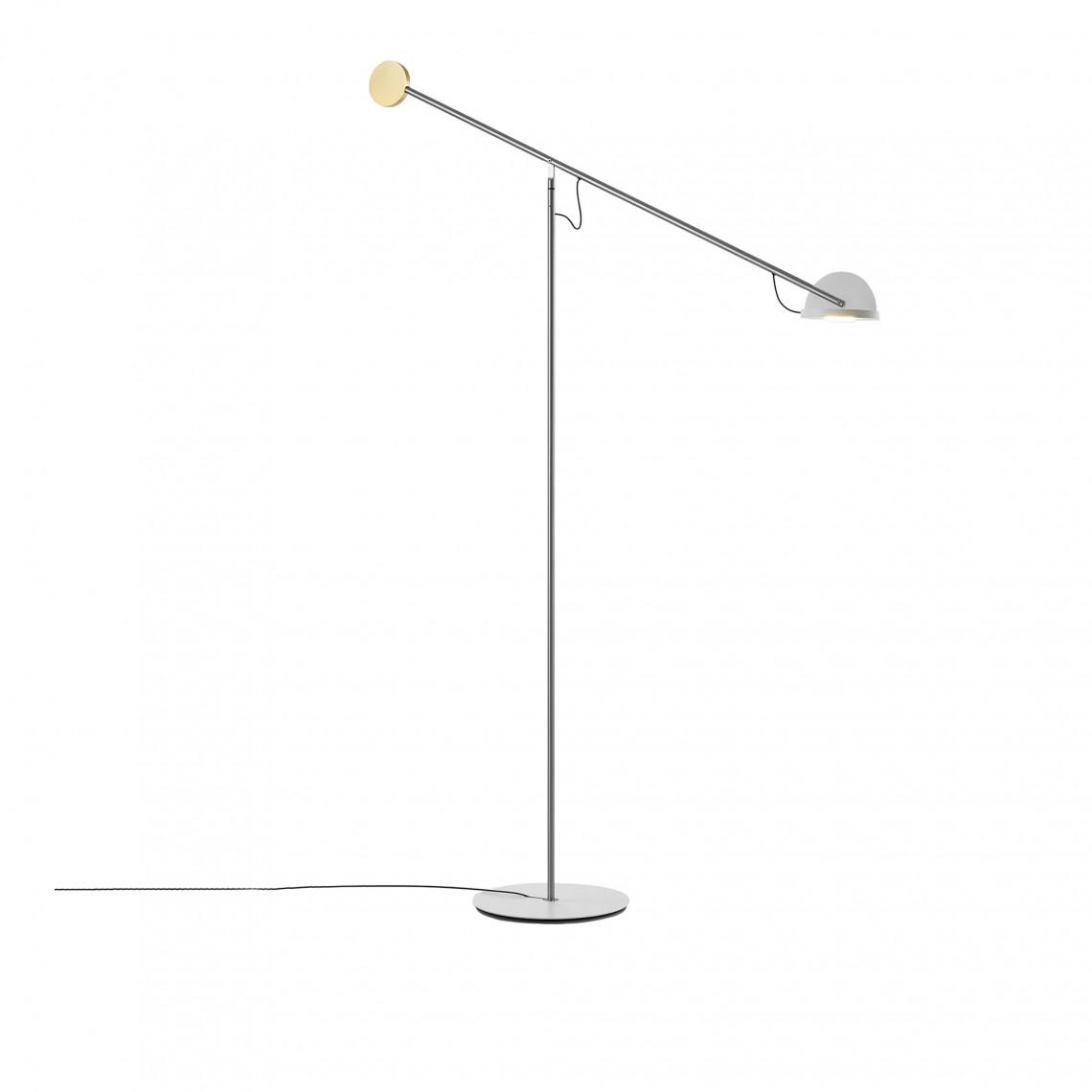 Copernica P - Floor Lamp Golden/White
