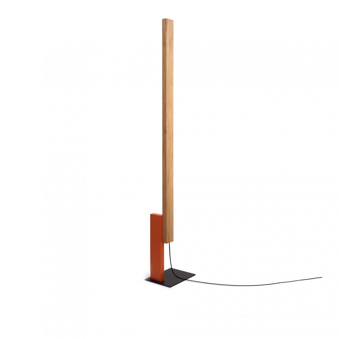 High Line Oak - Floor Lamp Orange
