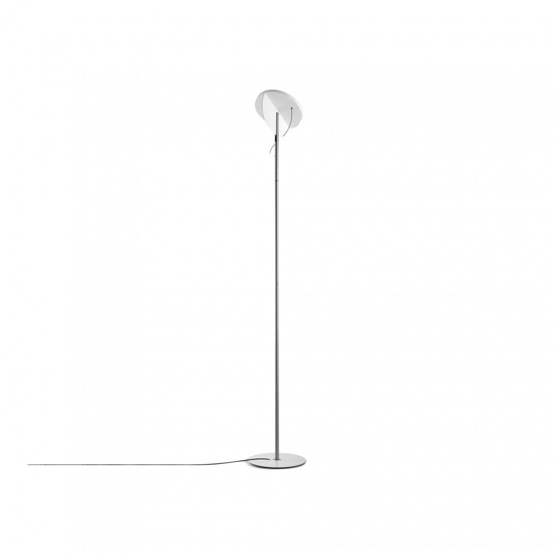 Copernica P190 - Floor Lamp Satin Nickel