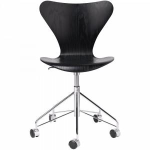 Serie 7™ Snurrstol, färgad ask svart