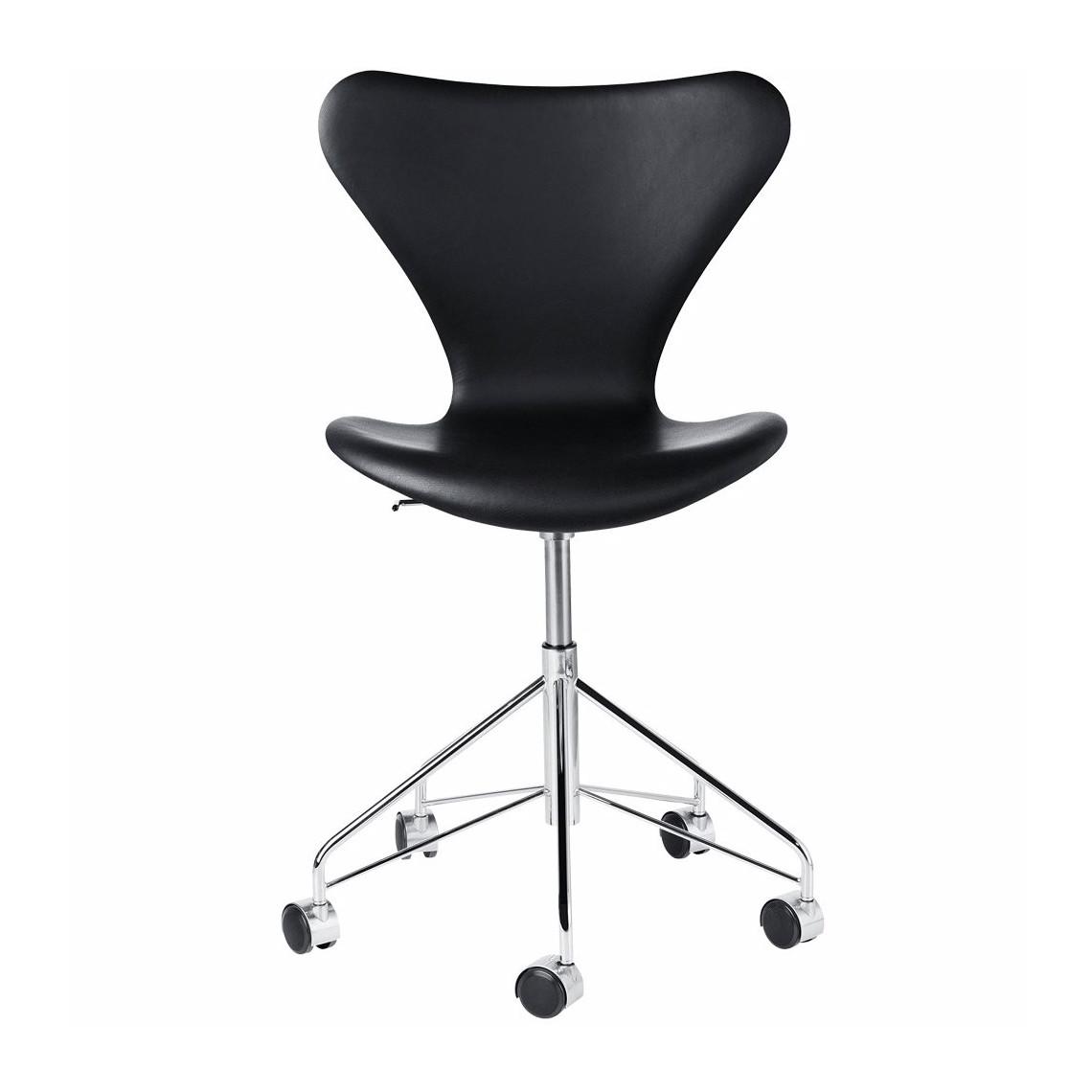Serie 7™ Snurrstol, basic leather svart