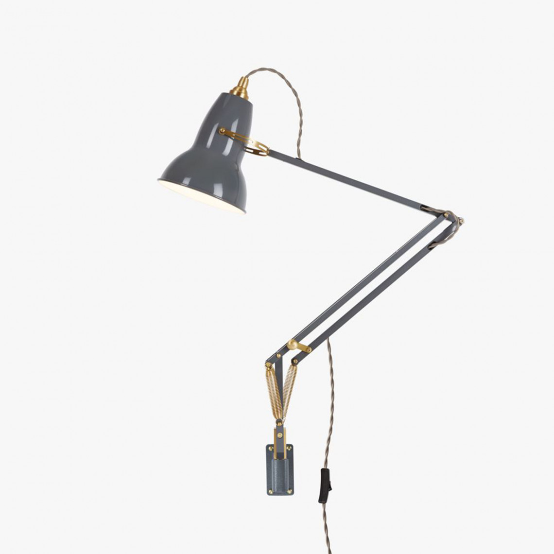 Original 1227 Brass - Väggmonterad lampa Elephant Grey