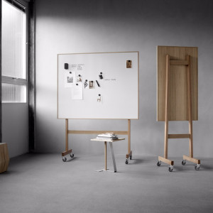 Wood Mobil Whiteboard