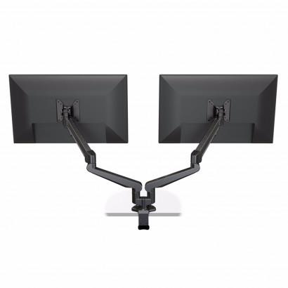 Monitorarm Stockholm - Twin 2 x 3-8kg, Gasfjädrad, Svart