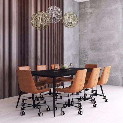 Konferensmöbler 6-8 pers Möta + Design (med hjul underrede)
