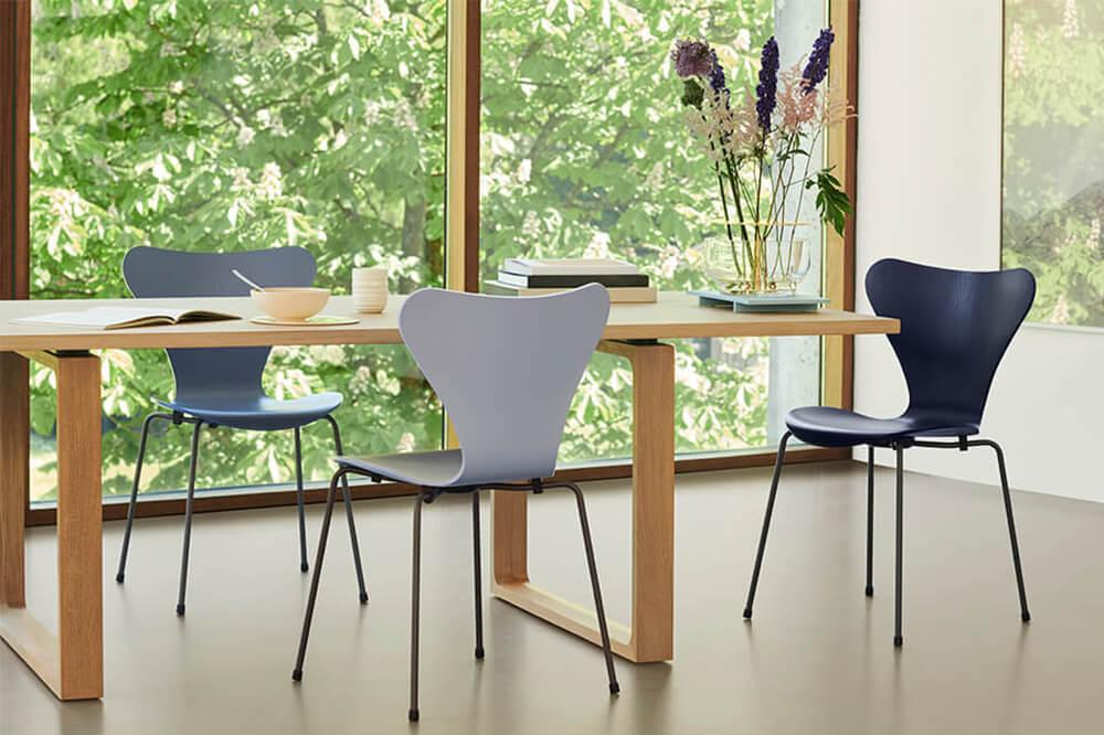 Fritz Hansen Sjuan stol och matbord Essay